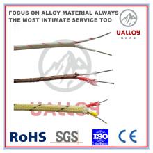 Câble thermocouple isolé K-Bl-Bl-0.2 en fibre de verre