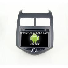 Quad core! DVD de coche con enlace de espejo / DVR / TPMS / OBD2 para pantalla táctil de 8 pulgadas con cuatro núcleos 4.4 sistema Android CHEVROLET AVEO