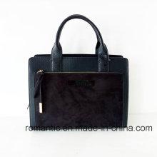 Fashion Brand Designer Frauen PU Wildleder Aktentasche (NMDK-051646)
