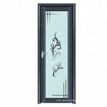 Modern aluminum double glass double bedroom doors design