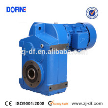 Shaft mounted helical gearmotor as Bonfiglioli F series parallel shaft