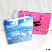 Sac à bandoulière en plastique imprimé personnalisé, sac à main pour cadeau, sac à cosmétiques / maquillage Drawstring