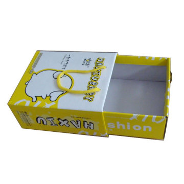 Corrugated Shoes Packing Boxes with Drawer and Handle