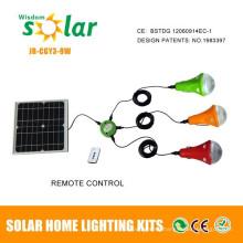 2015 última Solar Powered bombilla led de mano con soporte de acero inoxidable