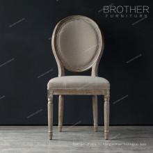 Роскошная столовая мебель круглый дуб дерево дизайн французский классический обеденный стул