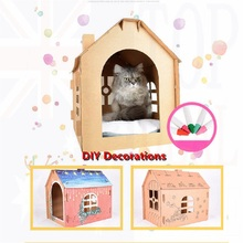 Corrugated Paper Pet Cats House