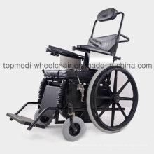 Equipamento médico cadeira de rodas em pé semi-automática para treinamento de reabilitação