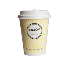 logo printed disposable double wall Factory Directly New Provide Best hot Sales drinking Material take away coffee paper cup