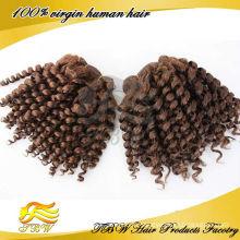 Couleur spirale de trame de cheveux humains brésiliens de la catégorie 5A couleur # 33