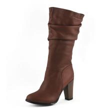 Fashion MID Heel Women Knee Boots (HCY02-1743)