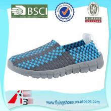 Novos lazer polychrome leve tecidos artesanais sapatos