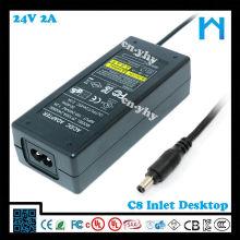 24v 2a fuente de alimentación 48w con entrada C8 AC