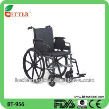 Cadeira de rodas em aço manual
