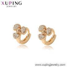 96887 xuping environmental copper gold plated women fan earrings
