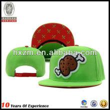 funny twill acrylic snapback hat with printing brim