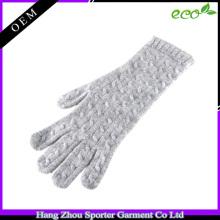 16FZCG05 cable knit glove women imitation cashmere wool glove