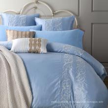 Têxtil de casa 100% algodão de luxo bordado