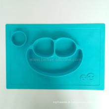 Esteira do jantar do silicone da criança do padrão de alimento de LFGB FDA