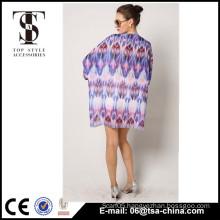Ladies Fashion Tops,Latest Design Dolman Graphicx Chiffon women's fashion blouse                                                                                         Most Popular