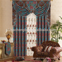 Motorized chenille jacquard ready made curtains for living room