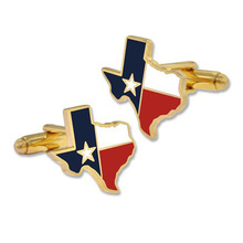 Luxury Texas State Flag Cufflinks with Gold Plating