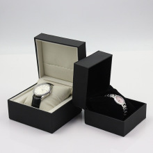 Fancy black leather watch box