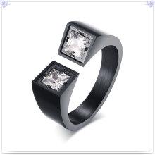 Joyería cristalina de acero inoxidable anillo de moda (SR259)