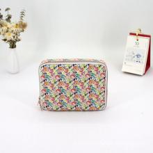 Eco Friendly Floral Printing Cotton Portable Custom Cosmetic Makeup Bag