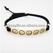 2013 Bracelete de couro elegante com encanto
