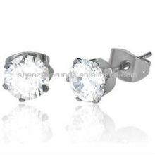 Venda Por Atacado brinco de cristal de aço inoxidável para mulheres moda jóias brincos bonito