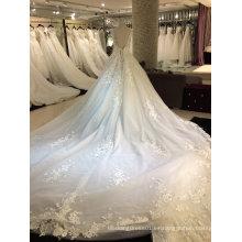 Princesa V cuello 2017 vestido de boda de muestra real