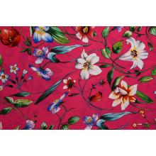 Tissus imprimés à motifs de fleurs roses de haute qualité