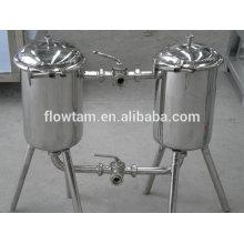 Filtre à double barillet industriel sanitaire industriel en acier inoxydable 304 ou 316