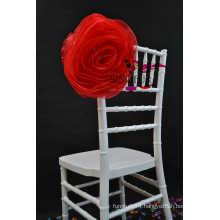 wedding organza chair cover chair flower