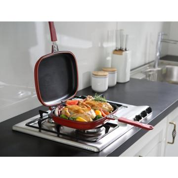 Sarchi caliente de la venta 2016 ninguna cacerola de la parrilla del doble del palillo para la cocina
