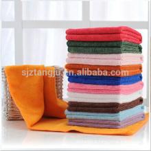 Toalha sólida de alta absorção, toalha sólida de microfibra 100%, conjunto de toalhas