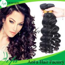 Выдвижение человеческих волос 7А класс Weavon тела волос Remy