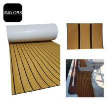 Teca impermeable de la luz Teak + Black Color EVA Faux Teak Sheet