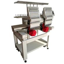 Doppelkopf-Stickmaschine, niedriger Preis computergesteuerte Stickmaschine