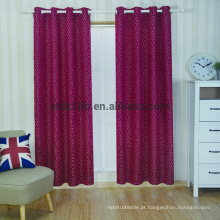 Nova chegada poliéster bordado cortina