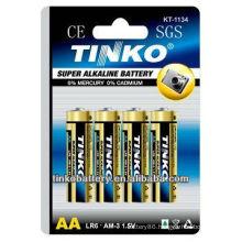 Withtinko brand(OEM welcomed) alkaline/dry 1.5v lr6 aa battery