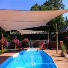 HDPE + UV stabilized swimming pool sun shade sail