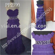 PP2390 A line Chiffon Purple Sweetheart Tiered Beading Evening Dresses In Istanbul