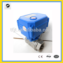 """CWX-15n 12vdc brass 1/2"""" CR04 normal open type electric water flow control ball valve for water leakage detection equipment"""