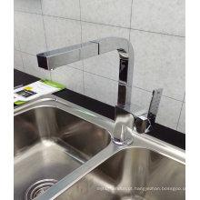 Square Vertical Pull Out Single Handle Faucet de cozinha