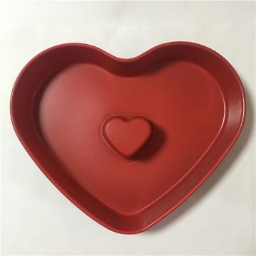 2019 New Colorful coating heart shaped baking pan