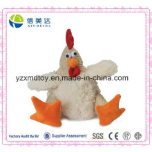 Funny Pet Toy Plush Cock for Dogs with Squeaker