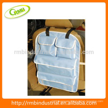 Multi-functional Car back seat bag/ organizer; seat back hanging storage with CD holder