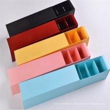 Boîte de macarons de papier de conception faite sur commande Macaron empaquetant la boîte d'emballage de macaron
