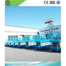 Plate-forme élévatrice hydraulique à ciseaux CE, 0.5t 10m